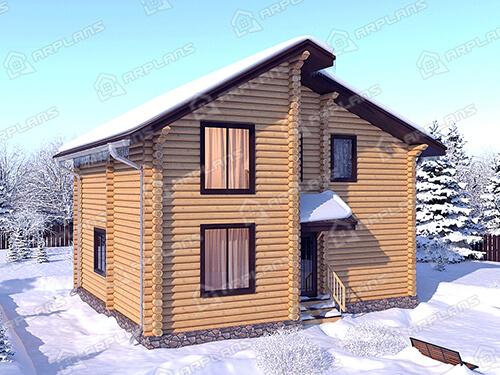 Проект деревянного дома из бревна ДО-018
