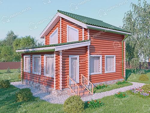 Проект деревянного дома из бревна ДО-019